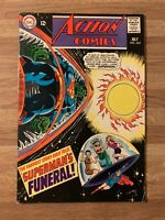 ACTION COMICS #365 (DC 1968) Superman Funeral~Supergirl~JLA~Luther~Neal Adams~FN
