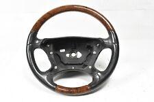 03-09 Mercedes R230 SL500 SL600 W209 CLK350 Steering Wheel Black Wood Trim OEM
