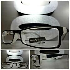 Mens or Women CONTEMPORARY MODERN Style Clear Lens EYE GLASSES Small Black Frame