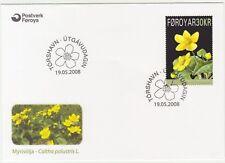 Faroe Islands 2008 Flower, Marsh Marigold, 30Kr High Value, First Day Cover