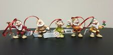Bullyland Disney 5 Dwarfs Xmas Christmas Tree Decorations - Brand New