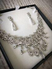 Stunning Swarovski Crystal Necklace Earring Set Bridal Wedding Evening Jewellery