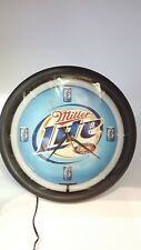 Miller Light Beer Neon Clock Sign Blue Perfect Man Cave Item