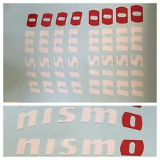 8pc White/red NISMO Brake Caliper Vinyl Sticker Decals Logo Overlay Nissan