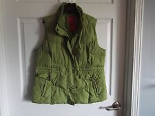 Euc Faded Glory lime green puffer vest Womens largesee description -