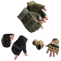 Tactical Half Finger Gloves Fingerless Knuckle Motorcycle Shooting Paintball