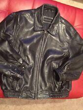 Vintage VTG baracuta  sz XL Black Leather Bomber Jacket C6