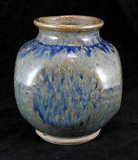 Vase à pan coupé en gres de La Borne