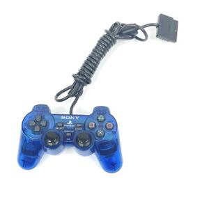 Official PS2 Blue Dualshock Controller OEM Original Sony PlayStation 2 Tested