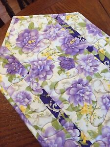 Handcrafted-Quilted Table Runner - Spring!! - NEW for 2021 - Large Purple Floral