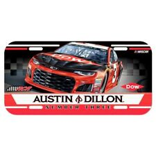 2018 AUSTIN DILLON #3 DOW NASCAR LICENSE PLATE NEW WINCRAFT FREE SHIP