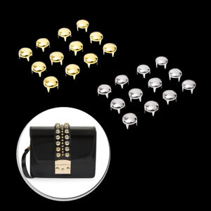 Gold Silver Round Dome Studs for Bags Leather Purses Craft Clothing Decoration