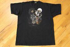 Vintage 90s Colorado Wildlife T-shirt Black Size Xl Bear Deer Lynx Faded Tee Vtg