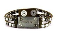 Diesel AVITE Damen Herren Armband ASITT Bracciale Lederarmband mit Nieten