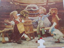 "Vintage Large Childrens Jigsaw Puzzle Puppets 14"" x 19"" Jaymar Michael Myerberg"