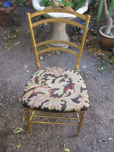 CHAIR Vienna Secession ART NOUVEAU Golden Wood  TAPESTRY EAGLE