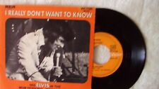 sp disque vinyle 45 tours elvis presley i really don't want to know superbe !