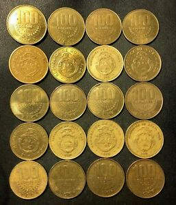 Old Costa Rica Coin Lot - 2,000 COLONES - 20 Excellent Coins - Lot #O18