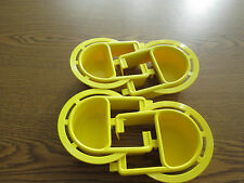 Bird cage plastic Extended feeder dish Small set of 4 dishes
