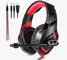 Onikuma K1 Red Gaming Headband Headsets