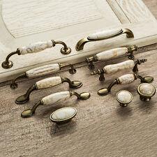 Vintage Kitchen Marble Pattern Ceramic Cabinet Pulls Drawer Knobs Door Handles