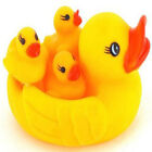 Baby Bathing Developmental Toys Water Floating Squeaky Yellow Rubber Ducks New