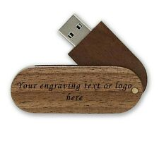 Wooden personalised laser engraved 16Gb usb stick memory flash drive