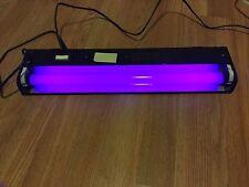 Vintage L&L Mf Black Light Flourescent Bulb And Fixture 118 V .35 Amp 60 Hz