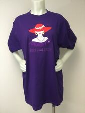 Red Hat Society T Shirt Jerzees Z Heavyweight Women Lady Size L Purple
