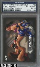 2014 Topps UFC Knockout Gold Cat Zingano Signed AUTO PSA/DNA Authentic