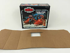 replacement vintage star wars empire strikes back kenner cloud car box + inserts