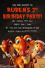 Dinosaur Party Invites - Personalised Dinosaur Photo Party Invitations x10 Roar!