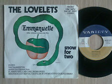 "THE LOVELETS - EMMANUELLE - 45 GIRI 7"" ITALY"