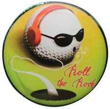 Roll the Rock - Cool DJ Golf Ball Jammin Out -  Golf Ball Marker - Package of 2