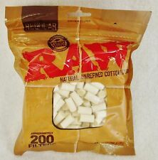 200 RAW FILTERS Unrefined/Unbleached Cotton for RYO Cigarette Papers 8mm x 14mm