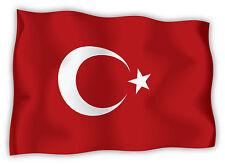 Turchia Turkey Türkei Turquie bandiera etichetta flag sticker 15cm x 11cm