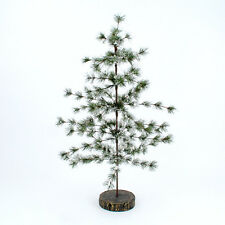 "Snowy Pine Tree 32"" resin base Woodland Christmas New Holiday Decor"