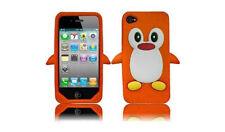 Orange Penguin Silicone Case / Cover for Iphone 4 / 4S