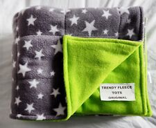 WEIGHTED BLANKET 1.8kg shoulder lap pad AUTISM Aspergers ADHD grey stars lime