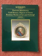 Sotheby's Catalogue Miniatures, Gold Boxes, Works of Art,Faberge etc 14 May 1987
