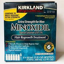 Kirkland Signature Minoxidil 5 Trattamento Ricrescita dei Capelli per Uomo - 6 Pacchi