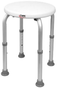"""Shower Stool Carex Without Arms Aluminum Frame Without Back 15.5 to 20.5"""" 1/EA"""