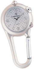 """S&W Knives Carabiner Watch Silver 3 1/4"""" x 1 1/2"""" Water Resistant"""