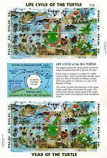 Palau 1995 Mf 867-72 il ciclo della vita delle tartarughe mnh