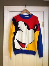 Vintage Mickey & Co Bright Color Block Ugly Sweater Size Medium