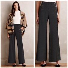 Anthropologie Elevenses Kingsland Wide Leg Sailor Pants Black Size 10