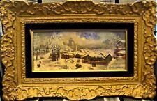 """Raffy le Persan """" Symphonie hivernale"""" - Huile originale sur panneau signée."""