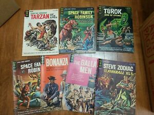 Gold Key 12 Cent Comic Lot Space Family Bonanza Turok Tarzan