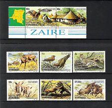 ZAIRE (1984) - LOT OF 8V - COB 1216/23 (**MNH) - PARC DE LA GARAMBA - WILDLIFE