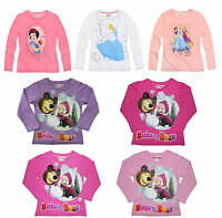 Girls Official Licensed Various Disney Long Sleeve T Tee Shirt Top 2 - 8 Years